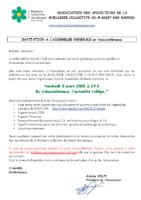 Invitation à l'AG du 5 mars 21 Miellerie Collective des Bauges