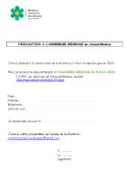 Procuration pour AG Miellerie Collective des Bauges 5 mars 21
